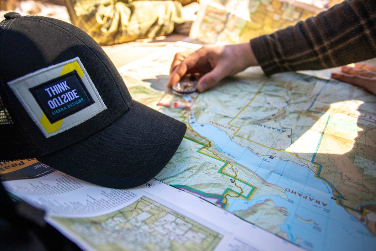 Map and navigation tools for thru hiking